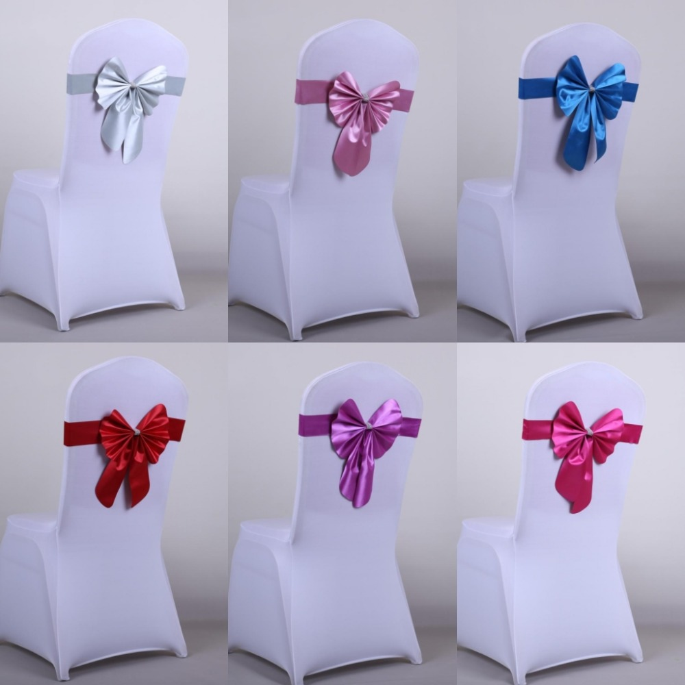 Party Decorations Chair Covers Custom Dining Chairs Wedding Bow Belt Bridal Decoration Pretty Sashes For Weddings Events