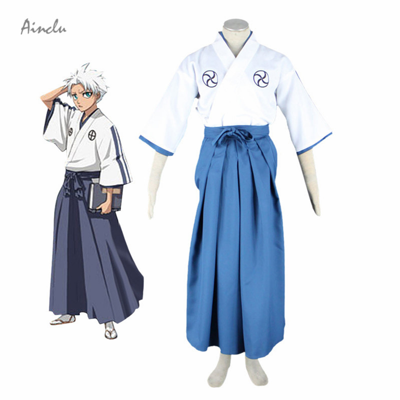 Ainclu New Bleach Hitsugaya Toushirou Halloween Cosplay Costume School Uniform