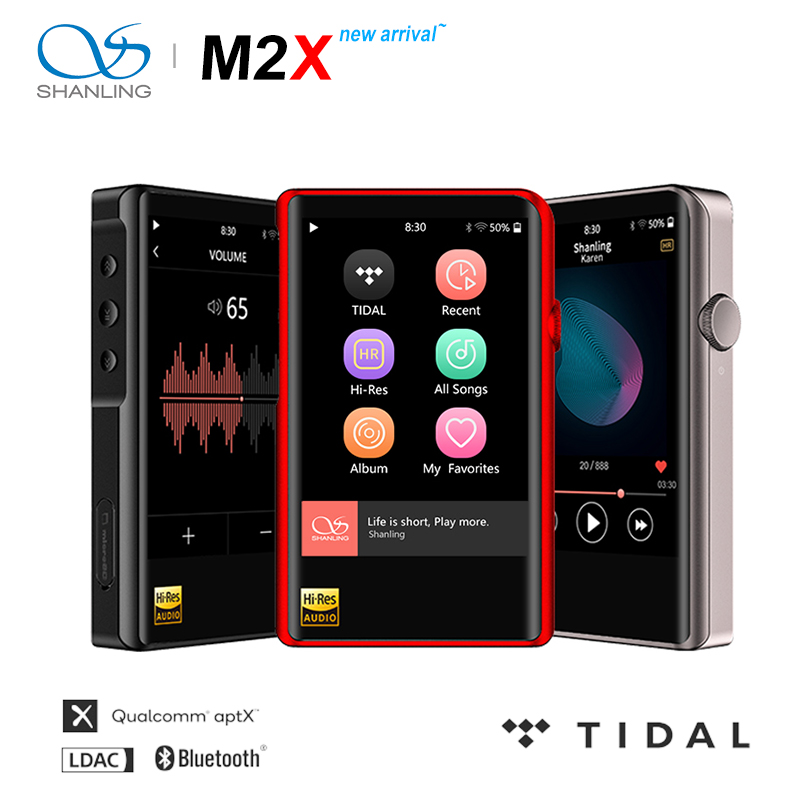SHANLING M2X Hi Res AK4490 DAC USB DSD Wifi Bluetooth HIFI Music MP3 Player PCM 32