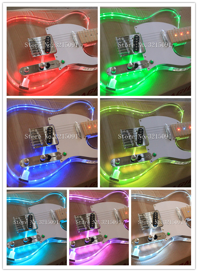 Latest Style Can Change Color Electric Guitar With Led