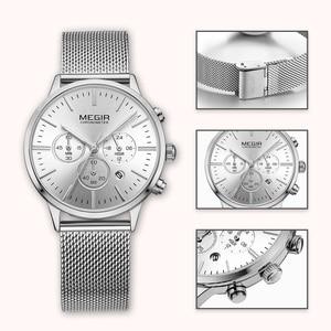 Image 5 - MEGIR Chronograph Luxury Women Bracelet Watches Relogio Feminino Fashion Quartz Lovers Wrist Watch Clock Ladies Girls Gift 2011