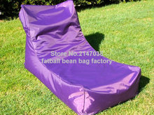 Purple outdoor bean bag furniture chair Outdoor waterproof beanbag sofa seat garden hammock chair
