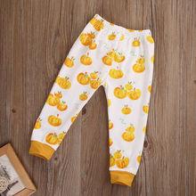 2017 Halloween Kids Trousers Baby Boy Girl Pumpkin Bottom Leggings Harem Cotton Pants