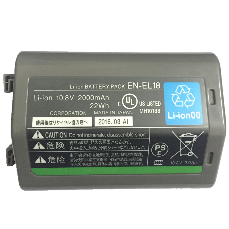 EN-EL18 EN-EL18A ENEL18 lithium batteries pack ENEL18A ENEL18 EN EL18 Digital camera battery For Nikon D5 D4 D4S D4X rechargeable camera battery en el18 for nikon made in china
