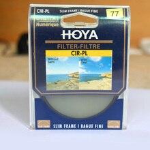 HOYA 77mm Circular Polarizador CPL Filtro Para Nikon Canon Sony Fujifilm DSLR Lente Da Câmera Livre S