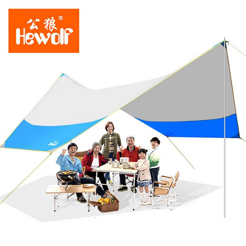Hewolf Outdoor pergola sun shelter camping beach awnings Foldable fishing shade canopy picnic equipment tarp 465*400*250cm esspero canopy