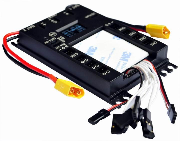 Poder Mini DP Pro 9 Canais Mini Servo Placa Seção Caixa De Energia com BEC para o Gás Plane