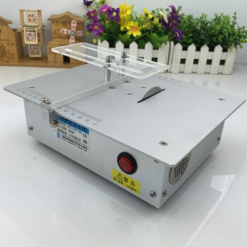 Aluminum alloy micro table saw High precision PCB cutting machine Mini DIY model saw Precision woodworking saws Freeship DHL 1pc