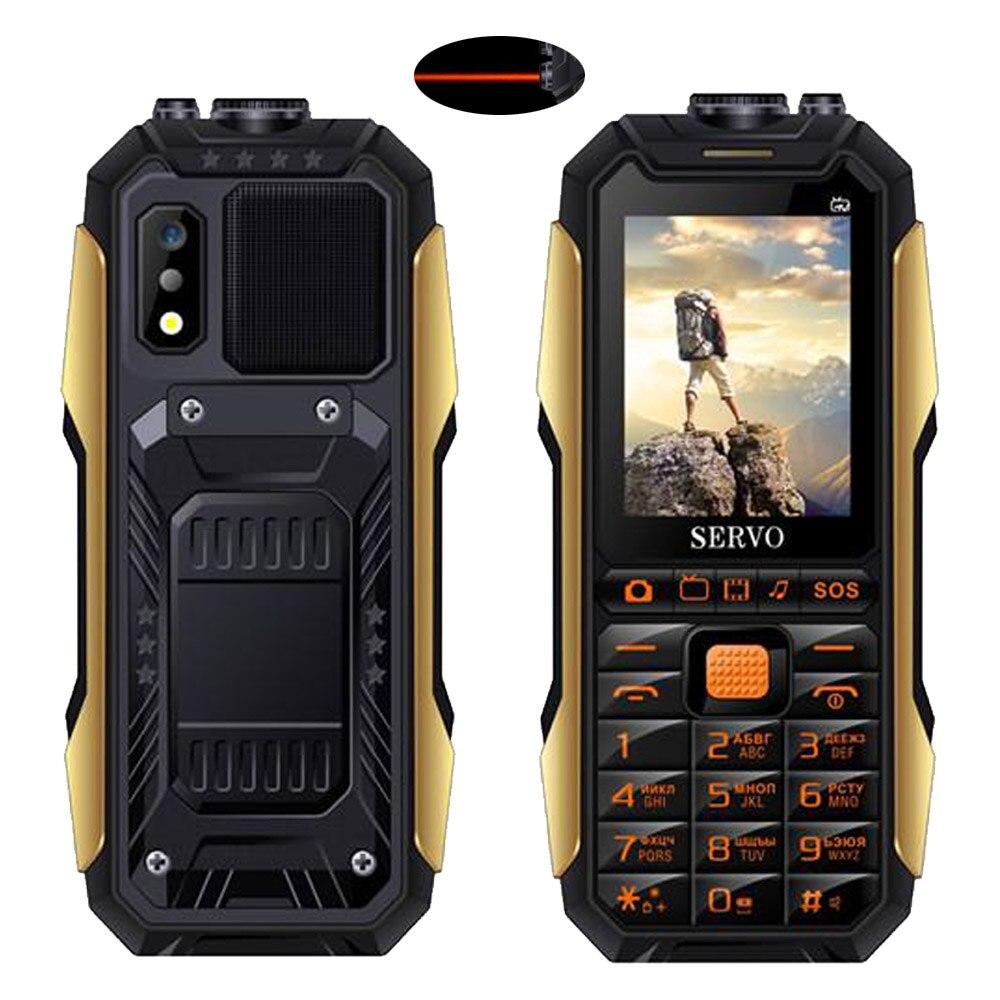 """Серво X7 2,"""" Три sim-карты мобильного телефона антенна для аналогового ТВ 4000 мАч Мощность банк Лазерная Голос Изменение Функция мобильных телефон - Цвет: Black with laser"""