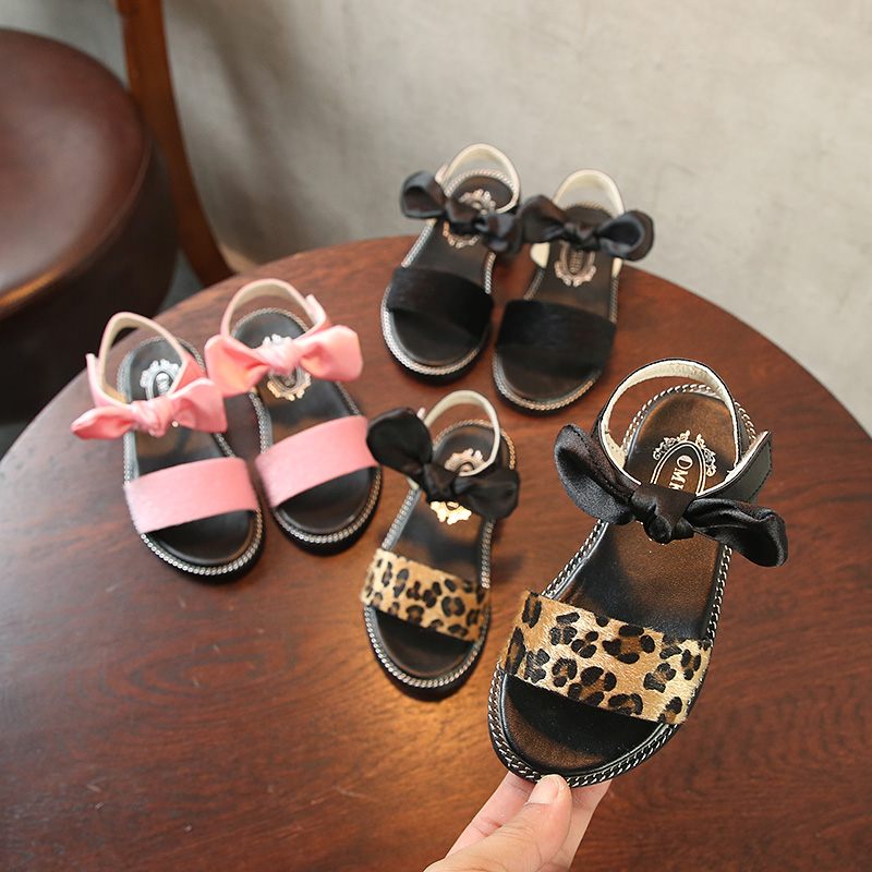 girls summer shoes children toddler boy princess sandals casual outdoor genuine leather loafers barefoot shoes kids fashion