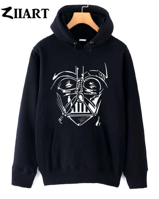 Star Wars Darth Vader หมวกนิรภัยคู่เสื้อผ้าหญิงหญิงฤดูใบไม้ร่วงฤดูหนาวผ้าฝ้ายขนแกะ hoodies