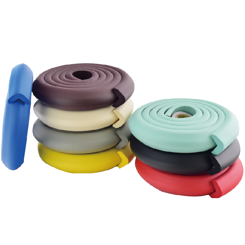 1 Roll Per Pack NBR Colorful Soft Baby Safety Edge Protector 35*35*2M