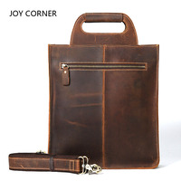 Genuine Leather Men Single Shoulder Document Bag First Layer Of Leather Men S Bag For File