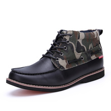 New Design 2016 Top Fashion AQUA TWO Fashion Boots Full Grain Leather Shoes For Men Shoes