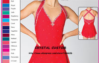 Crystal Custom Figure Skating Dress Girls New Brand Ice Skating Clothes For Competition DR4643
