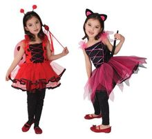 Childrens Day Party Masquerade Girls Little Insects Pretty Ladybugs Black Cats Elf Cosplay Costumes Gothic Lolita