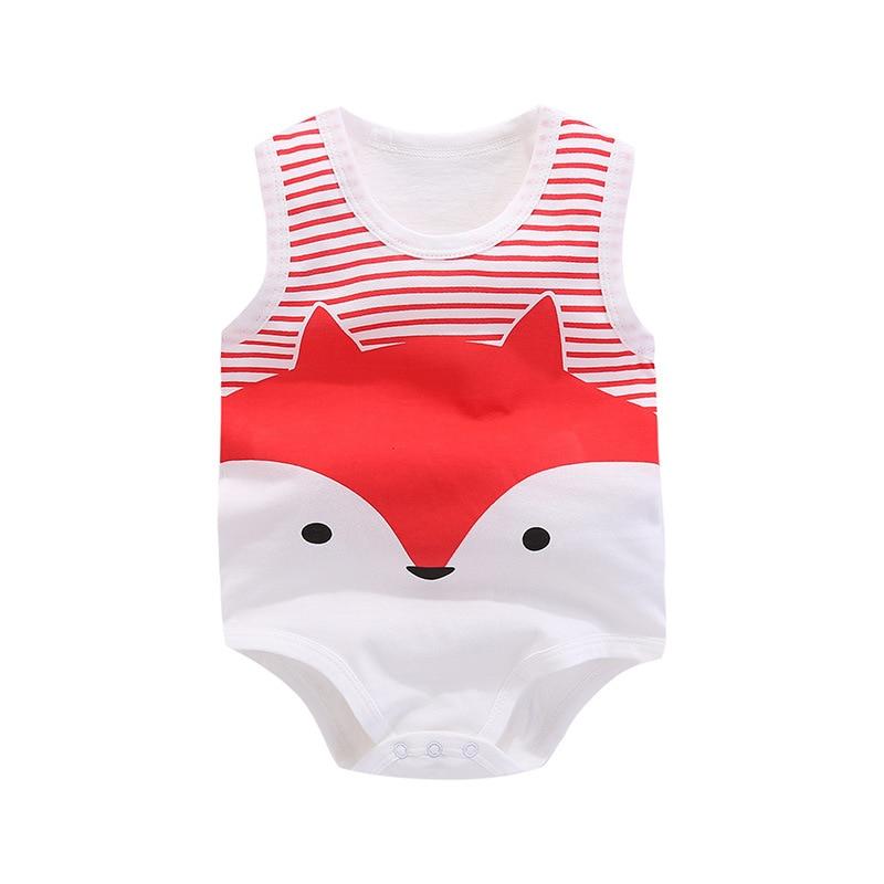 mamelucos del bebé de algodón recién nacido chaleco sin mangas - Ropa de bebé