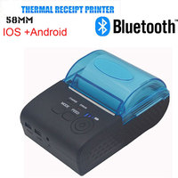 Fast shipping Wireless Bluetooth Thermal Printer 58mm Mini Bluetooth Thermal Receipt Printer for IOS/Android Mobile Printer