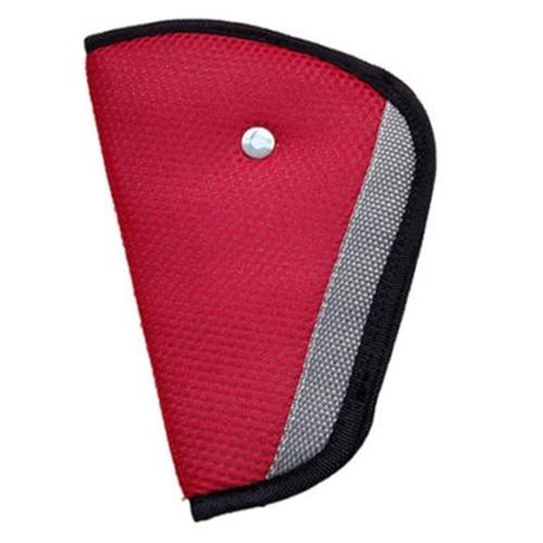 Children Kid Car Safety Harness Adjuster Seat Belt Seatbelt Strap Clip Cover Pad Red