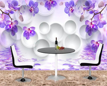 beibehang Custom any size 3D wall wallpaper living room modern fashion beautiful orchid photo murals paper home decor tapet