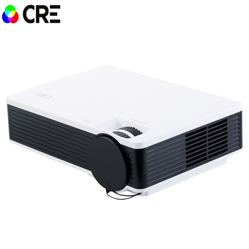 2016 Newest Portable Mini HD LED Projector Home Cinema Theater For PC&Laptop /USB/SD/AV input  new arrival gp8s mini home cinema theater 1080p hd multimedia pc usb led projector av tv vga hdmi