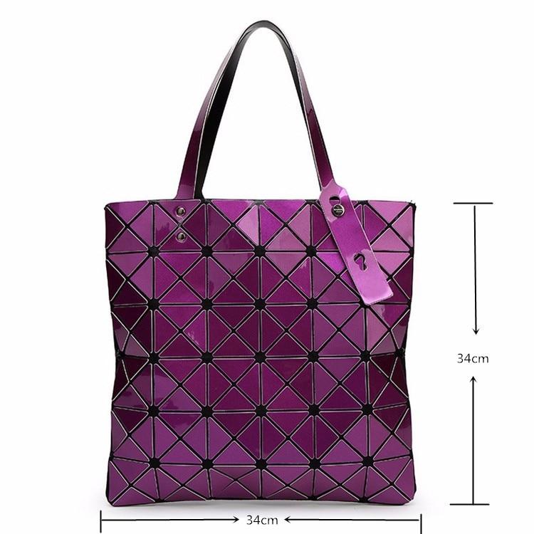 ALIEME Bag Women Pearl Bolso Laser Sac Diamond Lattice Geometry Quilted Shoulder Bags Japan With Logo