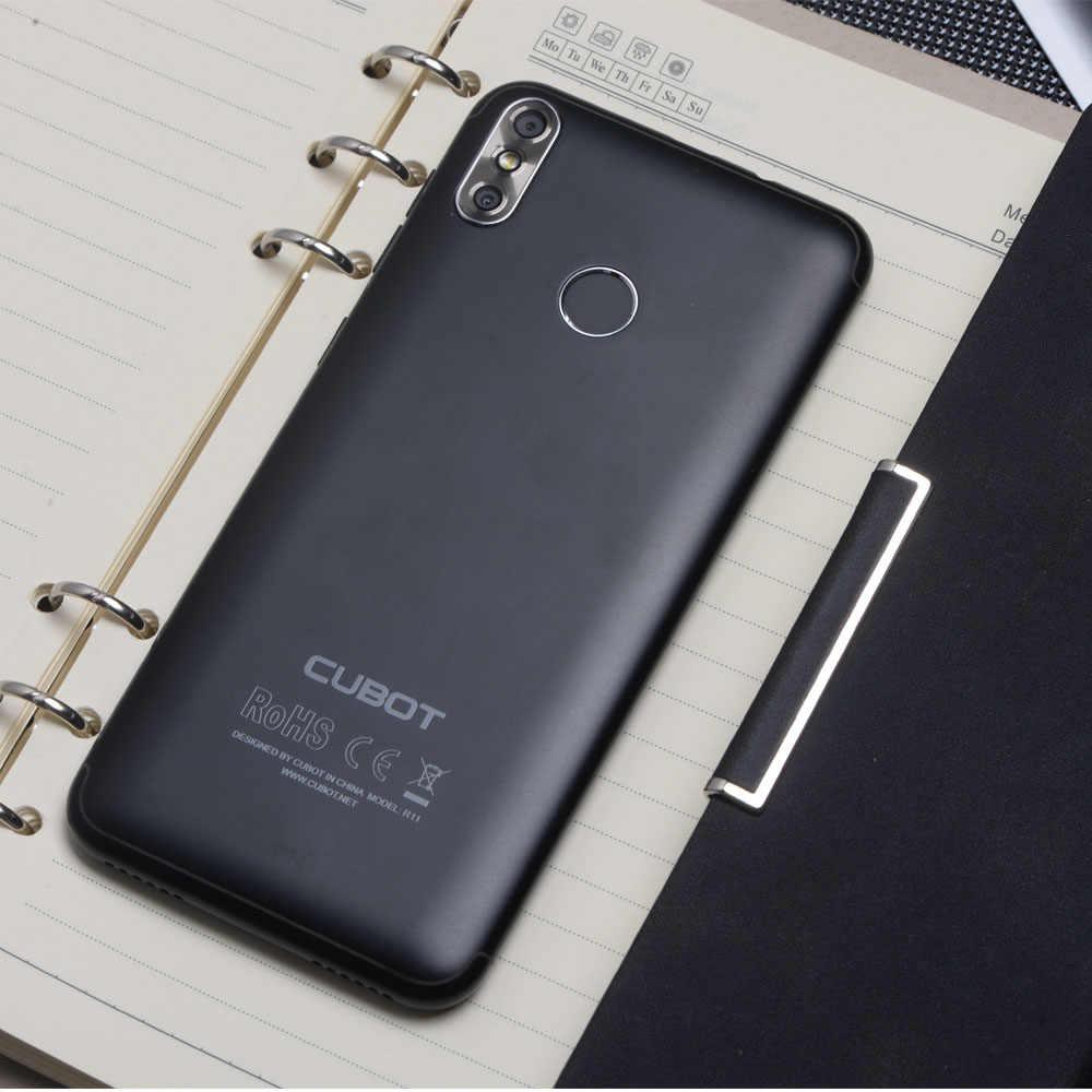 "Cubot R11 телефон Dual SIM Android 8,1 5,5 ""HD + Дисплей MT6580 4 ядра 2 ГБ + 16 Гб пальца ID двойные задние Камера Celular 2800 mAh"