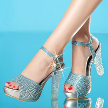2017 women sandals fashion crystal casual high heel sandals women high quality buckle strap summer sandals chaussure femme