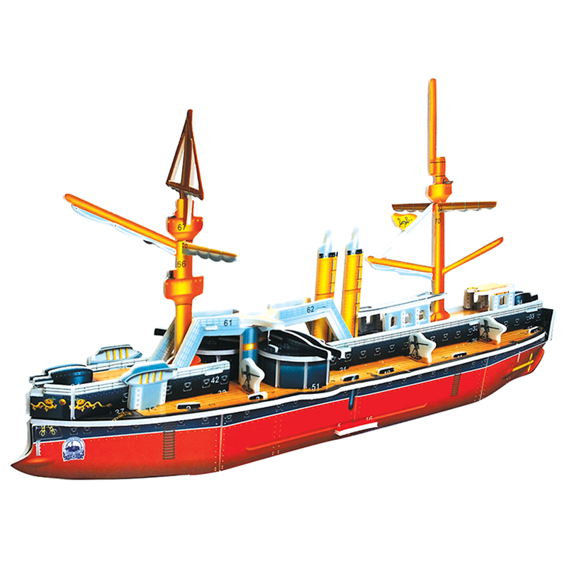 3D Puzzle Safe Foam Arts Crafts Diy Building Kits Craft Pirate Boat Sailboat Dingyuan Toys Toys For Kids