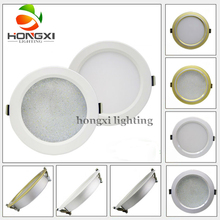 10W 5inch ultra thin 156mm hole size led light alumimum silver White shell PC cover  white downlight