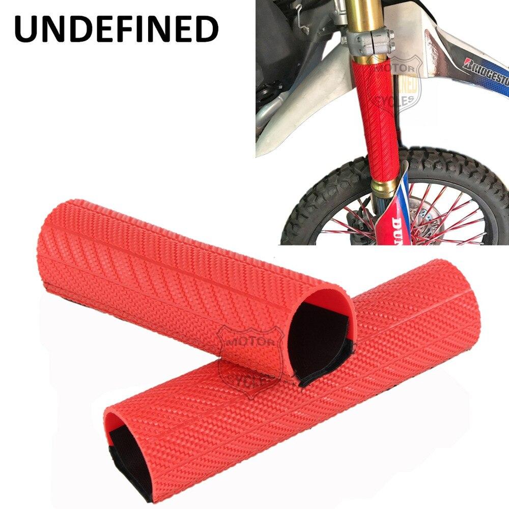 UNDEFINED Rouge Moto Dirt Bike Fourche Avant Protecteur Choc Absorbeur Garde Wrap Cover Peau Pour BMW Yamaha Honda CR125R VT750C