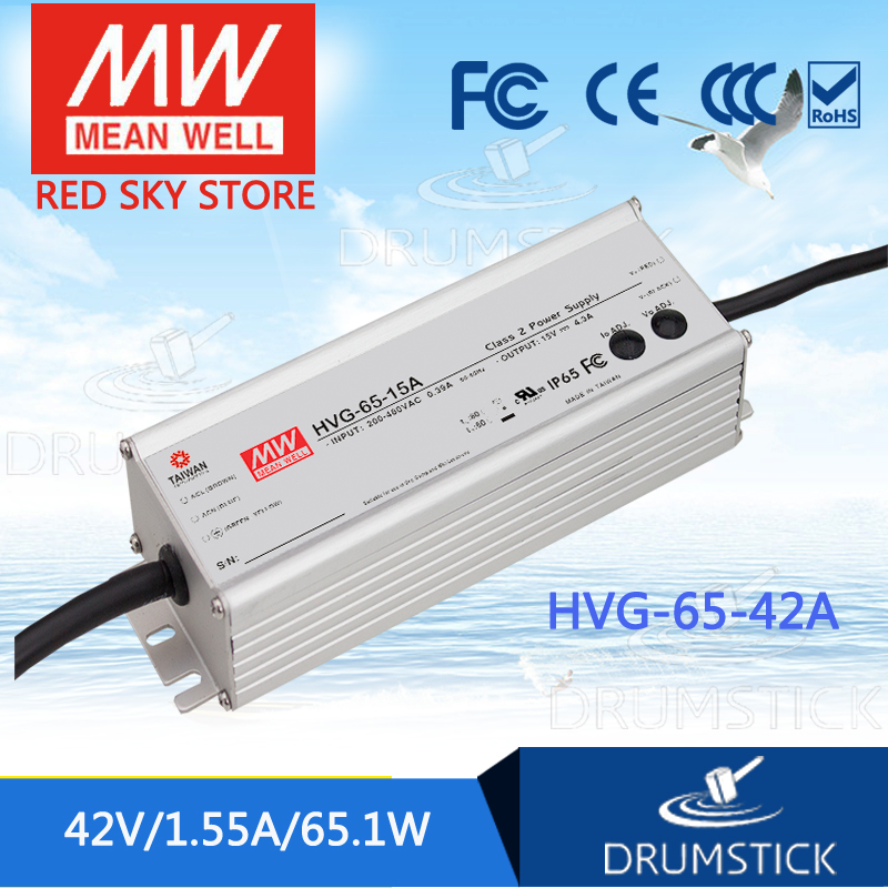 Advantages MEAN WELL HVG-65-42A 42V 1.55A meanwell HVG-65 42V 65.1W Single Output LED Driver Power Supply A type advantages mean well elg 100 42a 42v 2 28a meanwell elg 100 42v 95 76w single output led driver power supply a type [real6]
