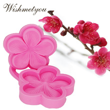 WISHMETYOU New Silicone Turn Sugar Cookies Cake Embossed Mold Plum Blossom Sugar Craft Silicone Flower Wedding Decoration Mold цена в Москве и Питере