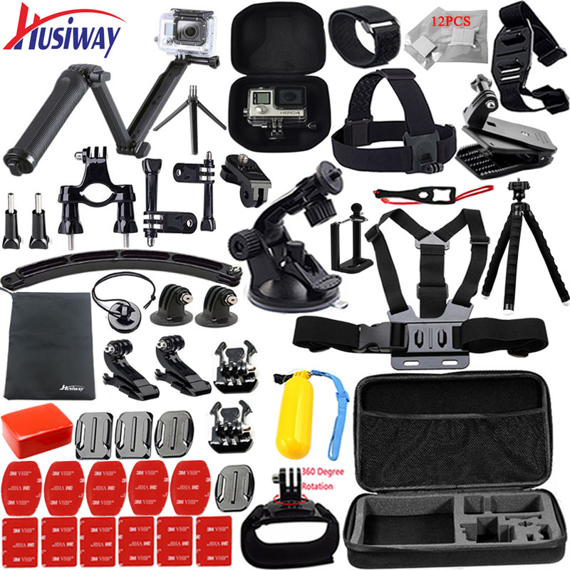 Husiway for Gopro accessories set for go pro hero 5 4 3 2 kit mount for
