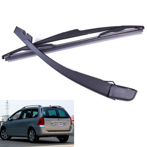 TOYL Brushes + Wiper Blade Arm Black For Car Rear Bezel PEUGEOT 307 SW / ESTATE 2000 to 2008