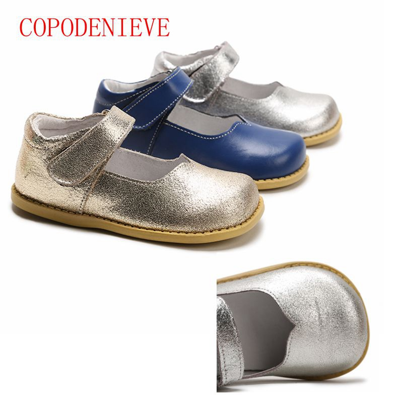 COPODENIEVE  children little girls dress shoes girls princess shoes Bright petals shoes Soft pretty comfortable for kids girls