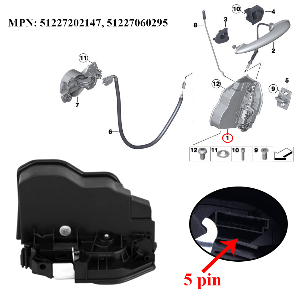 Jeazea 51227202147 51227060295 Car Rear Left Door Lock Actuator Latch For Bmw E60 E61 E63 E64 E65 E70 E71 E89 E90 E91 E82 E83 Locks Hardware Aliexpress