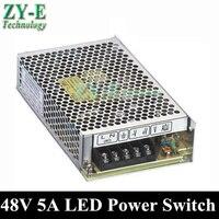1X 240W 48V 5A LED Power supply Switching Power Supply Driver LED Strip light Display AC110V 240V Transformer 48V free shipping