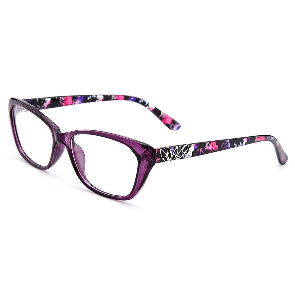 Gmei Optik Wanita Trendi Ultralight TR90 Penuh Rim Optik Kacamata Frame dengan Desain Cetak Gadis Cantik Bingkai M1550