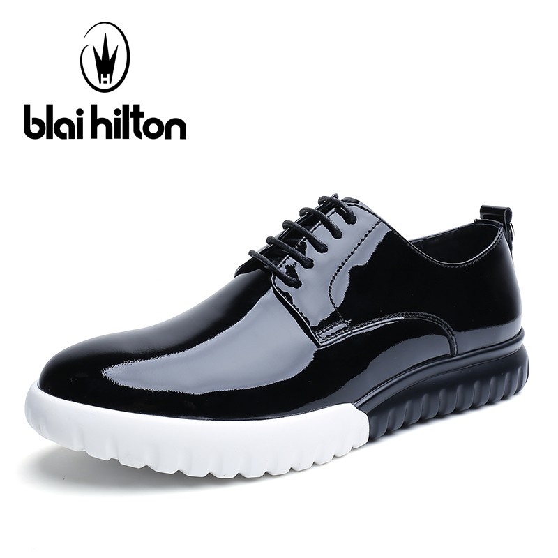 Blai Hilton 2018 New Fashion Spring/Summer men shoes Genuine Leather shoes Breathable/Comfortable Business Men's Casual Shoes 2017 fashion red black white men new fashion casual flat sneaker shoes leather breathable men lightweight comfortable ee 20