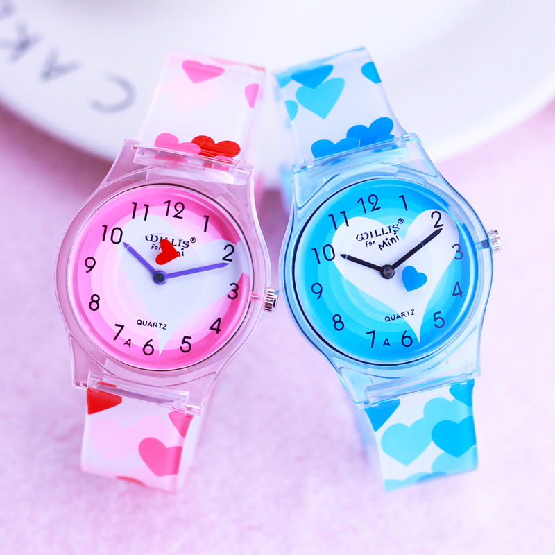 2019 Willis Children Women Girls Beauty Rotating Heart Butterfly Personality Quartz Watches Students Kids Lovely Gifts Watches