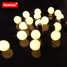 220V EU Plug 5M 20 LED Novelty Globe Ball Fairy String Light 8 Mode  Christmas Garland e62d6498a72c