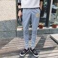 2016 Novos Homens Calças ativos Calças Casuais Roupas de Marca Calças Hip Hop Suor Calças de Treino Do Exército Slim Fit Mens Corredores