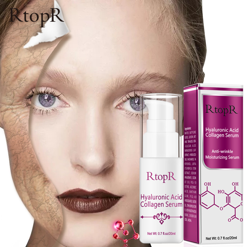 Hyaluronic Acid Collagen Vitamin C Anti Wrinkle Whitening Face Skin Care 24k Gold Polypeptide Firm Soothing Repair Serum Series