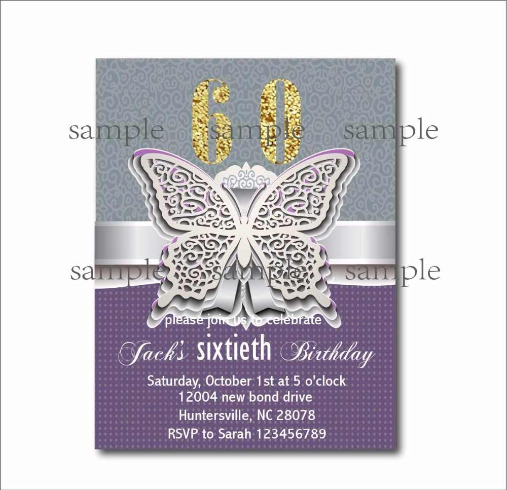 20 Pcs Lot Personalized Adult 60th Birthday Invitations 30th 40th 50th 70th 80th 90th Birthday Invites Party Decoration Supplier