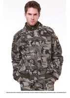 New Fashion Men's Military Camouflage Jacket College Sportswear men Winter Casual Jackets Coat With HAWK Embroidery