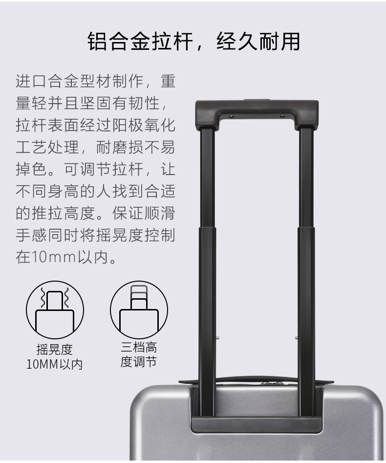Casual Travel Trolley Luggage Aluminum Frame Alloy Business Rolling Luggage Airplane Suitcase Spinner Wheels 20inch (13)