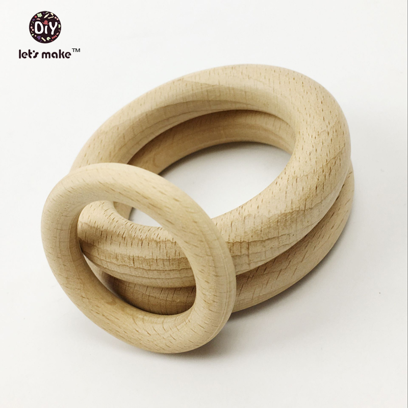 Bekend Laten we Beukenhout Ringen 7 cm 50 st Hout Ring Voor Kinderziektes @YW15