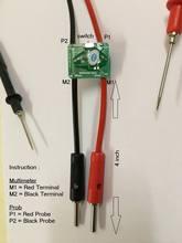 Milliohm meter Probe milli ohm converter는 멀티 미터에 사용되며 상대 저항 결정을 생산하도록 설계되었습니다.