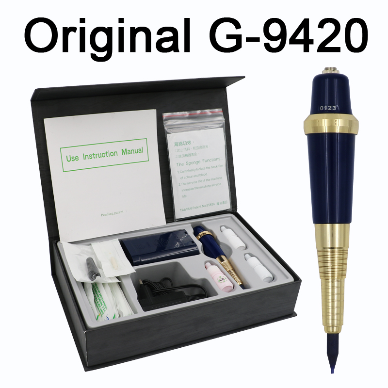 цена на Professional Taiwan G-9420 Eyebrow Tattoo Machine Pen For Permanent Makeup Basic Eyebrows Forever MAKE UP kit With Tattoo ink